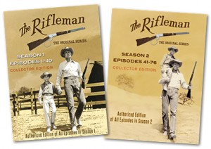 The Rifleman, the Original Series -- Collector Edition DVD boxed sets, Season 1 and Season 2. Available at www.therifleman.net